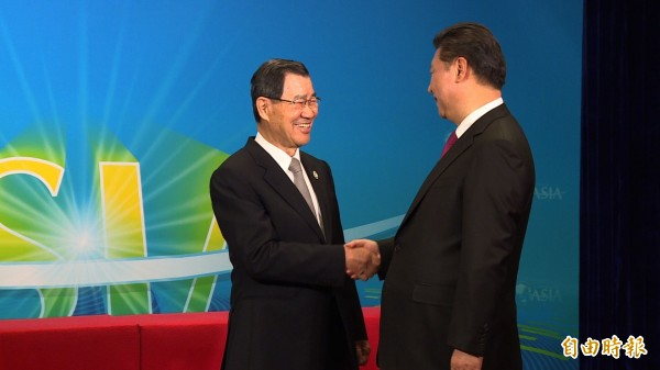 前副總統蕭萬長今天與中國國家主席習近平會面,並未閉門會談。(記者陳慧萍攝)