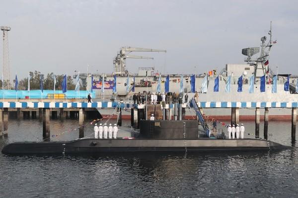 伊朗近年來積極開發國防工業。圖為伊朗製造的新型國產潛艇「征服號」,非文中爆炸潛艦。(法新社)