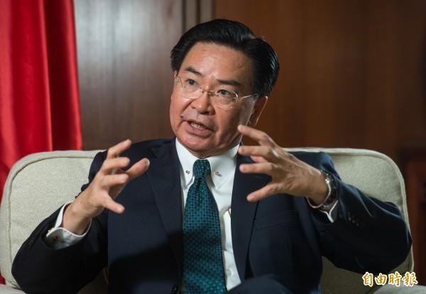 外交部長吳釗燮說,民主世界類似的擔憂愈來愈多,澳洲和其他西方國家希望借鑑台灣的經驗,了解中國相關影響、干預的行動。(資料照)