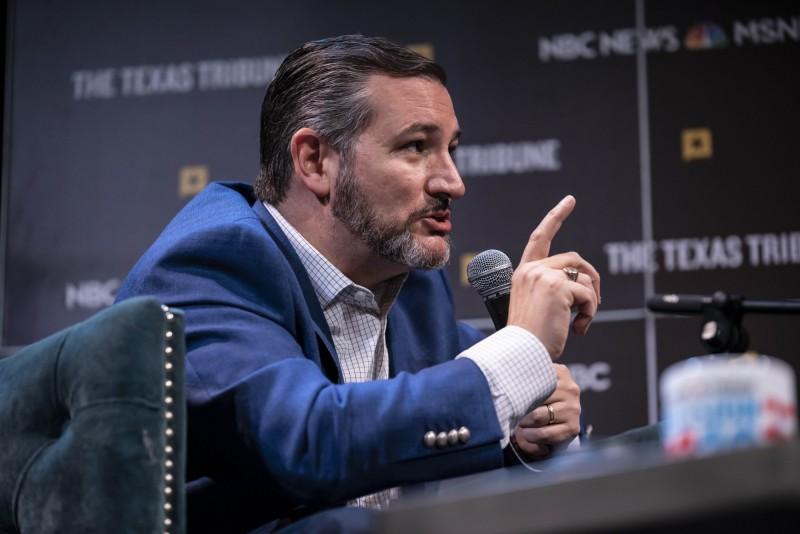 美國共和黨參議員克魯茲(Ted Cruz)等8名國會議員,在給NBA總裁席佛(Adam Silver)的公開信裡呼籲NBA停止在中國的活動。(法新社)