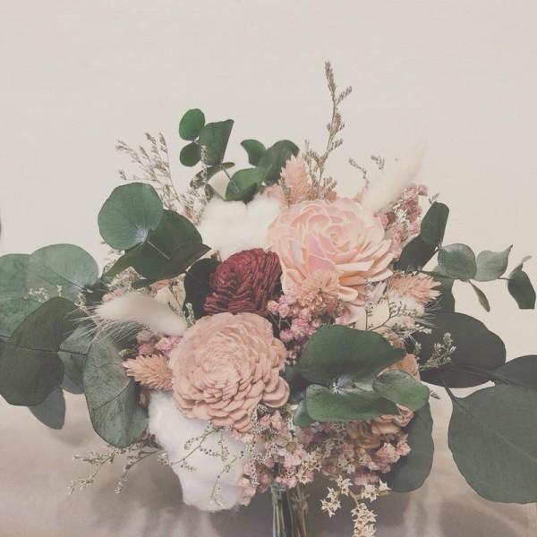 新娘捧花。(王雅娟提供)