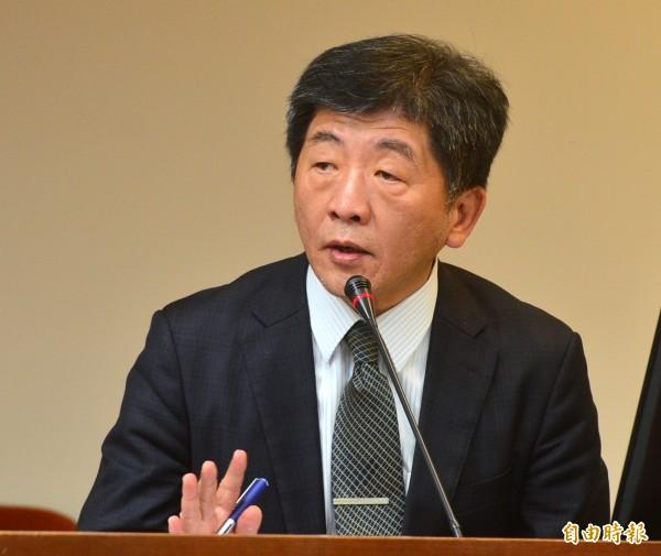 衛福部長陳時中列席立法院衛環委員會,並接受質詢。(記者王藝菘攝)