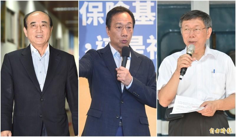 台北市長柯文哲與郭台銘確定在「八二三61週年音樂饗宴」同台,至於王金平則還在邀約當中。(資料照)