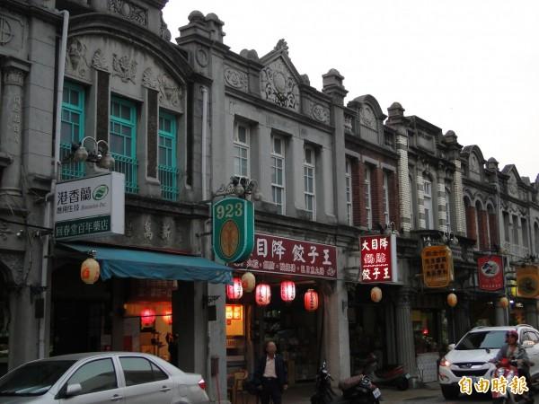 新化老街擁有許多日據時期歷史建築,為知名景點。(資料照)