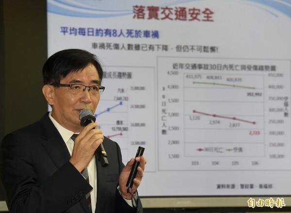 交通部長吳宏謀8日列席立院交通委員會報告並備質詢。(記者朱沛雄攝)