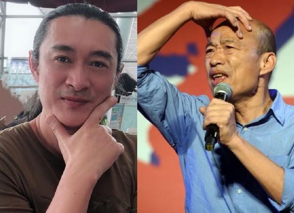 黃安(左)表態力挺韓國瑜(右)。(左圖擷取自黃安微博,右圖資料照)