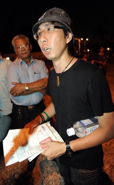 因集會遊行法首謀罪嫌被起訴的台大社會系助理教授李明璁,今天一審宣判無罪。(資料照,記者王藝菘攝)