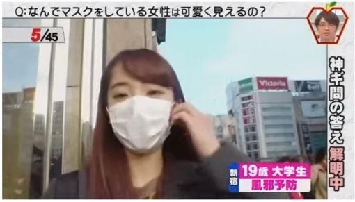 大學生為了預防感冒戴上口罩。(圖擷自YouTube)