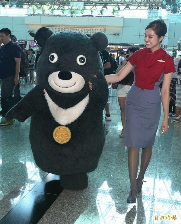 北市觀傳局日前替台北市吉祥物「熊讚」申請商標,卻被打槍。(資料照,記者姚介修攝)