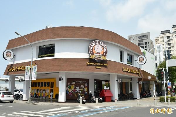 位於高雄巨蛋附近,以史努比為主題的「查理布朗咖啡旗艦店(Charlie Brown Cafe Taiwan)」本月15日悄悄歇業。(資料照)