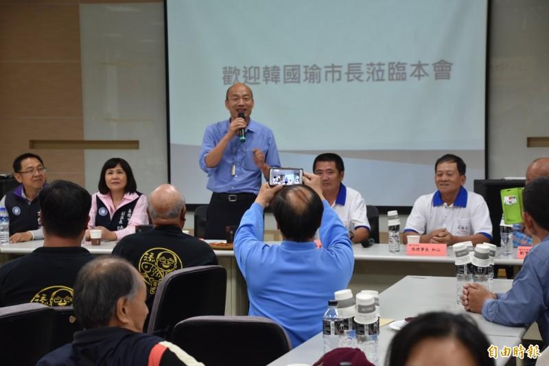高雄市政府今正式公布市長韓國瑜出訪新加坡、馬來西亞行程,除多場與貿易商、通路商簽約,並沒呈現拜訪當地官員內容。(資料照)