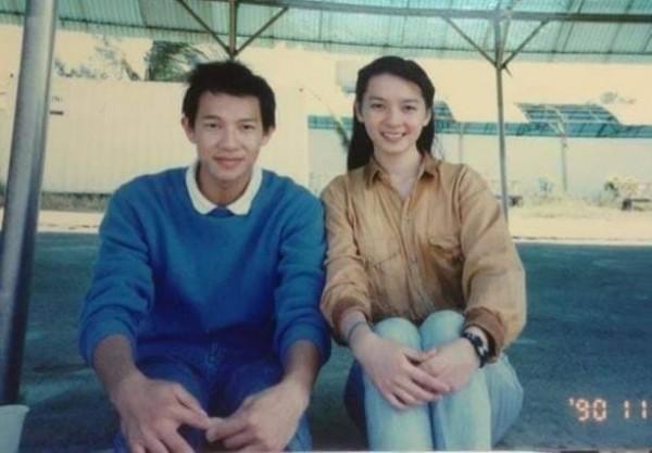 谷懷萱(右)是徐展元(左)上大學第一個認識的女孩。(圖片取自谷懷萱臉書)