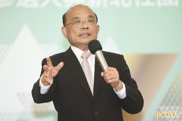 民進黨新北市長參選人蘇貞昌出席新北市宗教界茶會。(記者陳志曲攝)