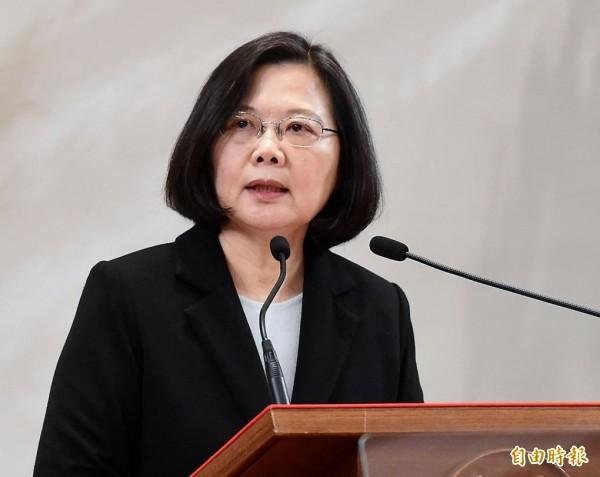 蔡總統透過總統府發言人黃重諺表示,如何守住台灣主權、守住民主生活方式,讓全世界看見台灣人民的意志與堅持,才是當前台灣最嚴肅的課題。(資料照)