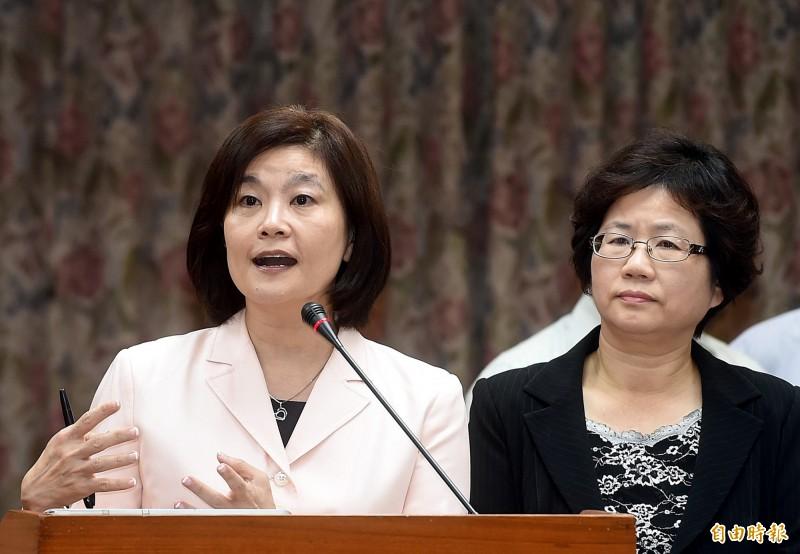外傳高市文化局長將由前教育部政次、現任輔大教研所教授林思伶(左)出任。(資料照)