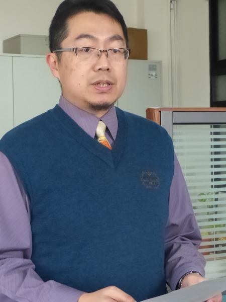 金門高分檢檢察官吳祚延表示,繼續對林毅夫「投敵」行為發布通緝。(記者吳正庭攝)