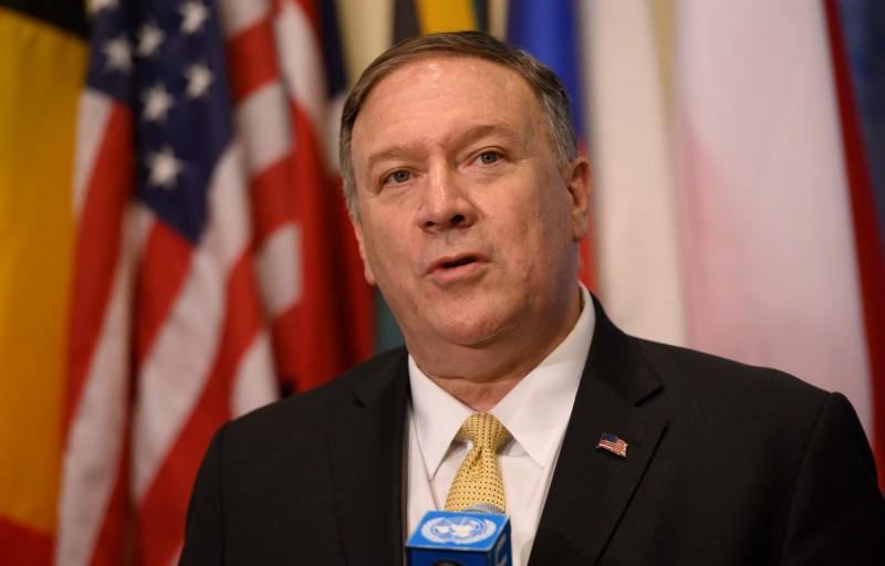 美國國務卿龐皮歐(Mike Pompeo)接受專訪時表示,美國的行為符合美國過往的政策,美方只是履行對所有各方的承諾而已。(法新社)