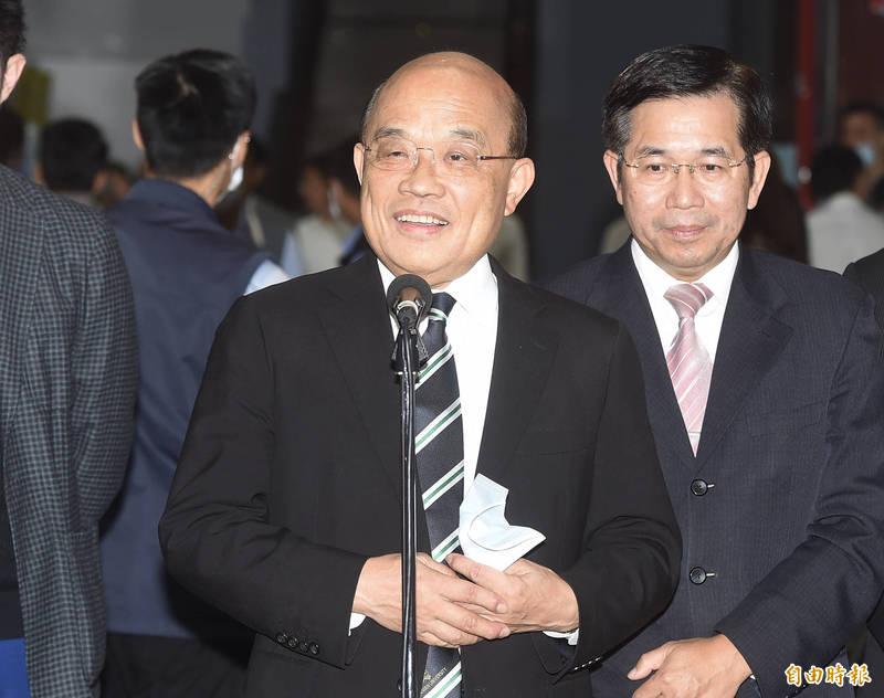 行政院長蘇貞昌表示,因缺水,要擴大部署抗旱方案。(記者李欣芳攝)
