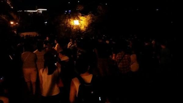 台北市北投公園成了抓寶聖地,吸引大批玩家前往。(讀者提供)