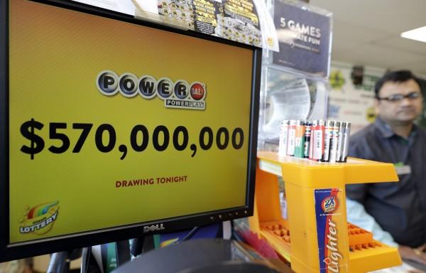 美國威力球開獎,一注獨得5.7億美元(約新台幣168億元)。(美聯社)
