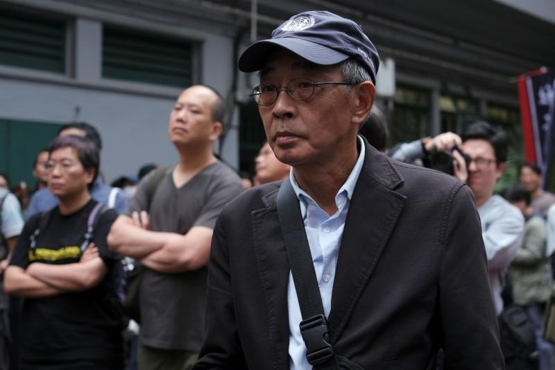 林榮基今(31)日參與反修例遊行,反對香港修訂《逃犯條例》。(路透)