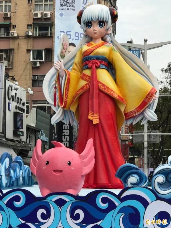 台北燈節「萌版林默娘」花燈。(資料照,記者何世昌攝)