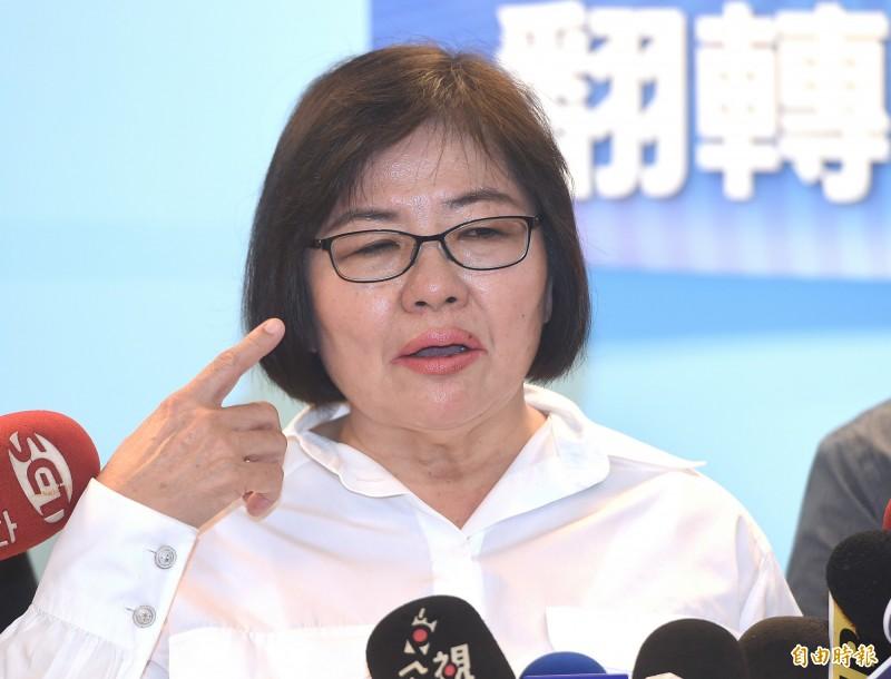 圖為國民黨台北市黨部主委黃呂錦茹。(資料照)