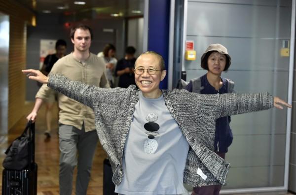 劉霞近日獲准飛往德國尋求醫療照護。(美聯社)
