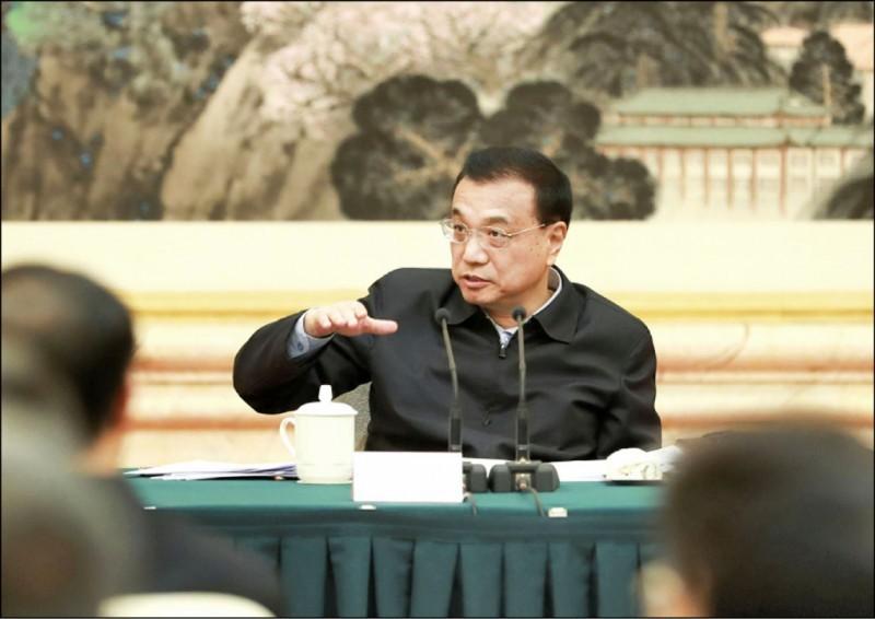 中國總理李克強在中國人大上再次強調習近平「一國二制」的台灣統一戰略。(中央社資料照)