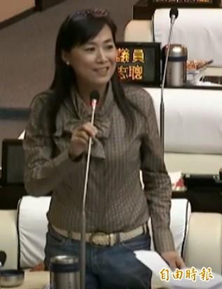 市議員林宜瑾建議警察局重視「檢舉達人」擾民問題。(記者洪瑞琴攝)