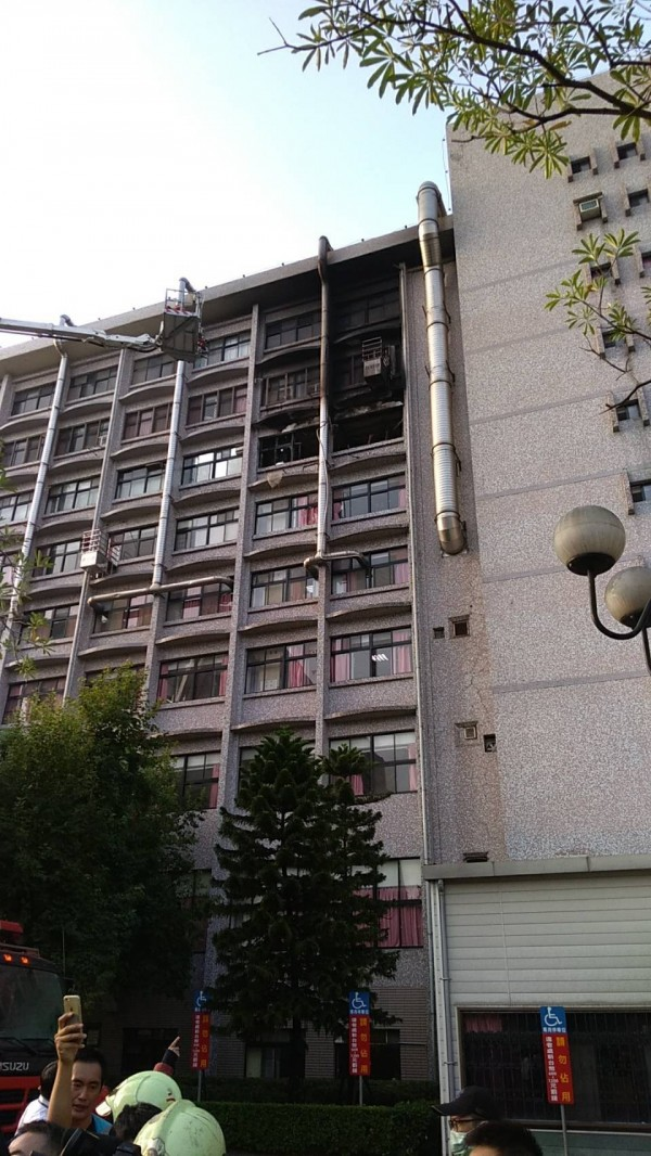 疑為起火點的7A23病房。(民眾提供)