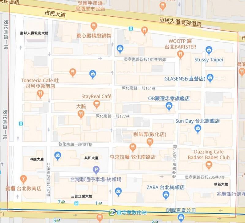 台北市大安區建安里出現本土登革熱病例,8月26日將進行第二次噴藥作業。(圖擷自Google地圖)
