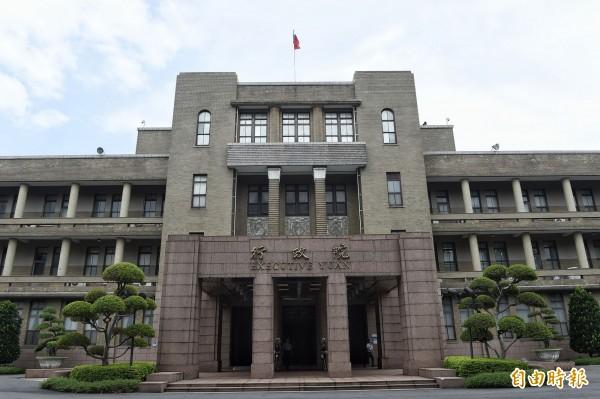 行政院證實,院長林全於昨天向蔡總統請辭。圖為行政院大樓。(記者陳志曲攝)