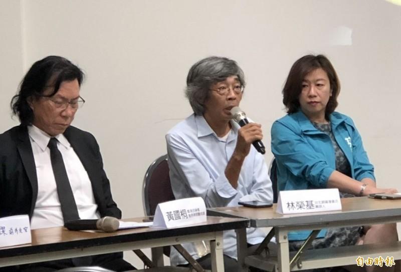 林榮基今晚出席由銅鑼灣書店主辦的論壇,談及香港反送中活動與台灣問題。(記者楊媛婷攝)