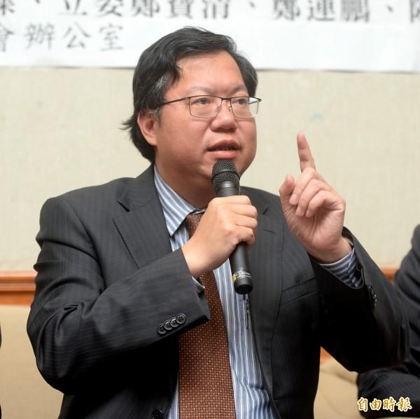 桃園市長鄭文燦表示,桃園鐵路地下化經過的都是桃園人口密集區,共有150萬人居住在沿線,對都市的發展幫助很大。(記者林正堃攝)