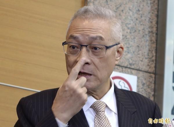 吳敦義約得3720票,敗給高雄市長韓國瑜。(資料照)