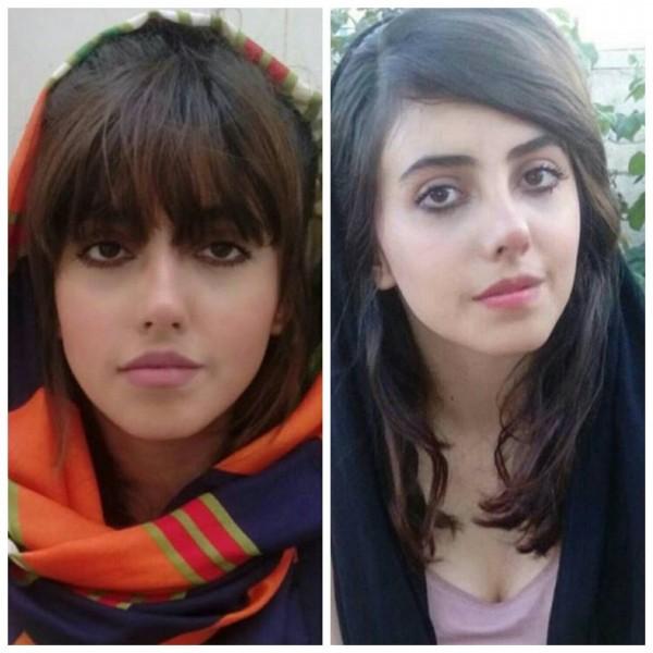 塔巴爾貼出自己整形前後的真實照片,整形前(左)的她與整形後(右)相貌相差不多。(圖擷取自IG @sahartabar_offcial)