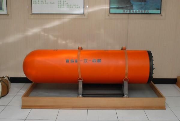 軍方官員指出,水雷的最大功能不在於對船艦所造成的傷害,而是在於難以偵測排除,需耗費敵軍大量時間。圖為中科院研製水雷。(圖擷取自中科院)