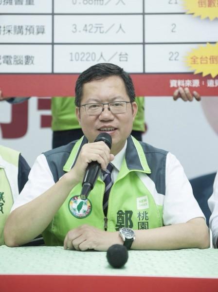 民進黨桃園巿長提名人鄭文燦。(資料照,記者謝武雄攝)