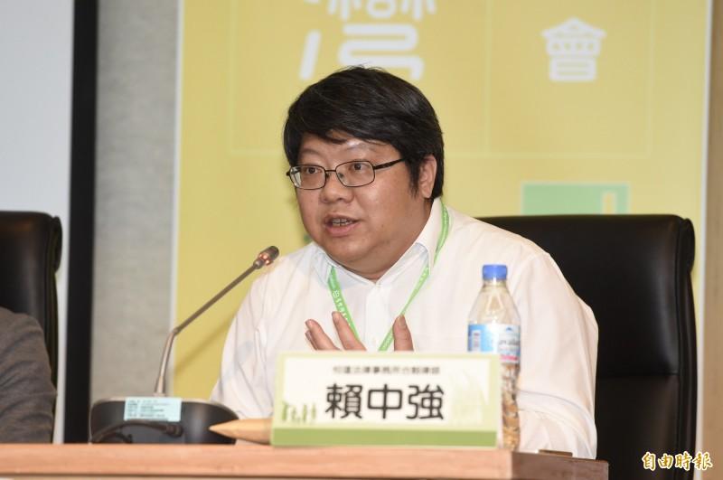 針對香港特別行政區政府近日提出「逃犯條例」和「刑事事宜相互法律協助條例」修訂草案,台灣經濟民主聯合召集人賴中強表示「非常遺憾」。(資料照)