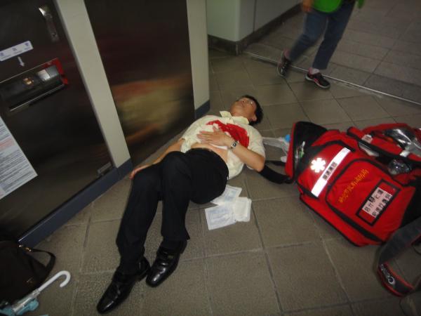 捷運隨機殺人事件造成多人傷亡。(記者吳仁捷攝)