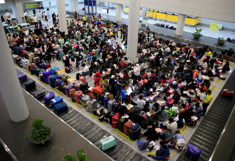 菲國海關在機場查獲大批準備運往台灣的槍械彈藥。圖為尼諾伊·艾奎諾國際機場。(路透)