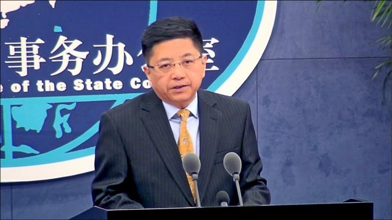 被問到韓國瑜的「國防靠美國」,中國國台辦發言人馬曉光回應,「兩岸同胞是一家人,兩岸的事是兩岸同胞的家裡事,應該由家裡人商量著辦。」(中央社資料照)