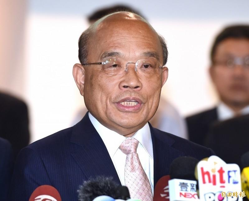 蘇揆(圖)要求韓國瑜,以後不要講「中華民國地區」。(資料照)