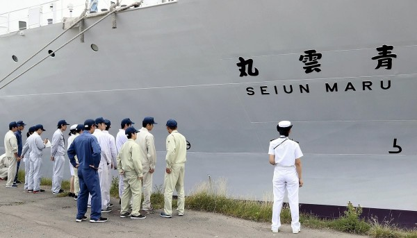 日本海技大學實習船「青雲丸」於7月發生3名男學生相繼自殺、自殺未遂及失蹤等事件。(圖取自推特)