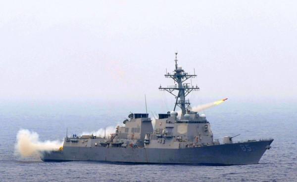1艘美軍麥坎貝爾號驅逐艦1月24日通過台灣海峽,實踐美方所做出的承諾。(資料照,擷取自美國海軍官網)