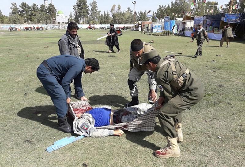 阿富汗拉什卡爾加市今發生連環爆炸案,造成4人死亡,31人受傷。(美聯社)