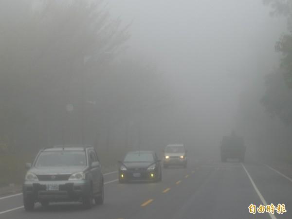 今晚馬祖地區易有局部濃霧,能見度不足200公尺,請民眾小心注意。(資料照,記者吳正庭攝)