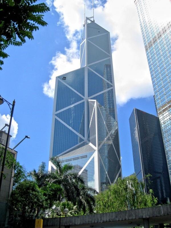 香港中銀大廈。(圖擷取自網路維基百科)