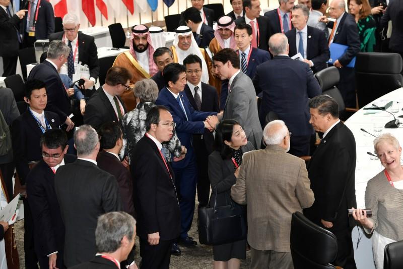 為期兩天的大阪20國集團(G20)峰會今天閉幕,各國領袖間已進行重要的雙邊會談。(路透)